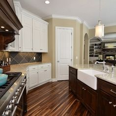 love the hardwood floors in this kitchen