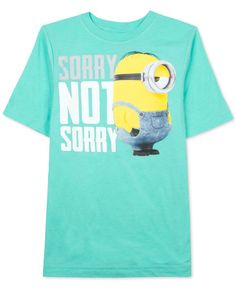 Despicable Me Boys' Sorry Not Sorry Minion T-Shirt