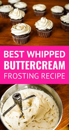 Best Buttercream Frosting Recipe -- Pinned over times! Super creamy and fluffy, not too sweet, this is quite possibly the BEST buttercream frosting recipe ever. Whipped Buttercream Frosting, Cupcake Frosting Recipes, Cake Recipes, Best Cream Frosting Recipe, Best Cupcake Icing, Simple Frosting Recipe, Not Too Sweet Frosting, Fluffy Frosting Recipes, Pie Cake