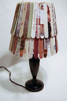 popsicle stick lamp shade