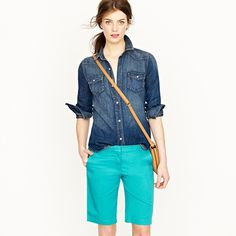 these shorts would be perfect for summer workdays, in various colors / $49.50 / summerweight chino short / J.Crew