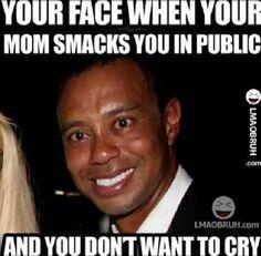 Haha his face.