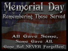 #MemorialDay is about remembering our veterans who died while protecting the freedoms we have in our nation. 🇺🇸