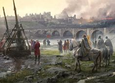 The Albigensian Crusade by Jose Daniel Cabrera Peña | Matte Painting | 2D | CGSociety