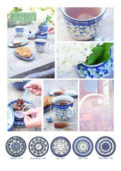 Bunzlau Castle    new decorations #greenhouse #violets #traditionals #blues #Mediterranean #urban #romantic #Polishpottery #pottery #tableware #home #bunzlau #BunzlauCastle #Stoneware #Bluekitchen #polishblue #Bunzlauservies #kitchen #textile #coffee #tea #teatime #dinner #blue #bake #baking #countrylife #bunzlaucastle #country #blue #blueandwhite #trendy #bohochic #home #handmade #tableware Polish Pottery, Fresh Water, Tea Time, Stoneware, Berries, Hand Painted, Dishes, Baking, Tableware