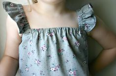 DIY Sewing for Girls - Ruffle Sleeve Top Tutorial on Sewing Secrets