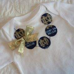 Notre Dame Fighting Irish Necklace Shirt or oneise. $19.95, via Etsy.