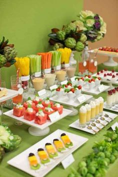 buffet table styling