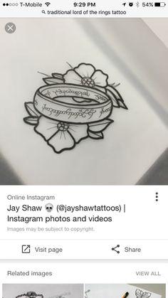 New tattoo leg sleeve middle 26 ideas Nerdy Tattoos, Movie Tattoos, Ring Tattoos, Foot Tattoos, Piercing Tattoo, Body Art Tattoos, Piercings, Hobbit Tattoo, Tolkien Tattoo