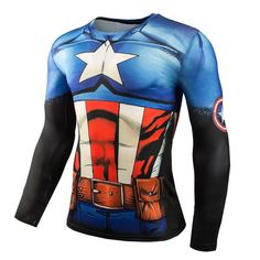 Camiseta Fitness com Pressão de Heróis de Cinema Tamanhos S a 4XL (P a 4XG) ¥1,880 / cada