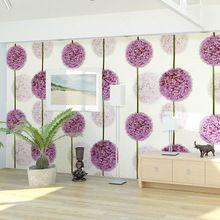 10 m / Roll PVC Wallpaper diente de león romántica Wallpaper rollo fondo del sofá decoración de la pared para el dormitorio, sala de estar(China (Mainland))