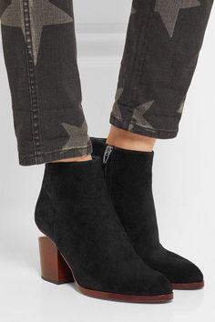 Alexander Wang - Gabi Cutout Suede Ankle Boots - Black - IT38.5