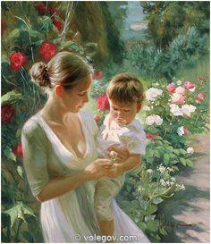 (Russia) White Flower, 2008 by Vladimir Volegov. Oil on canvas. 80×70cm