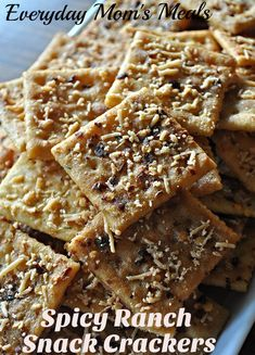 Spicy Ranch Snack Crackers | Everyday Mom's Meals