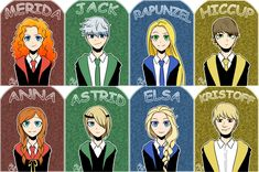 The big four and friends Hogwarts ver by Lime-Hael.deviantart.com on @DeviantArt