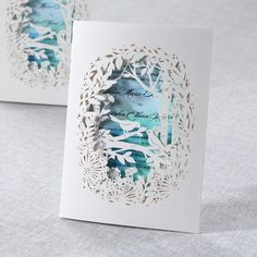 Laser Cut Forest 3D Pocket - Wedding Invitations