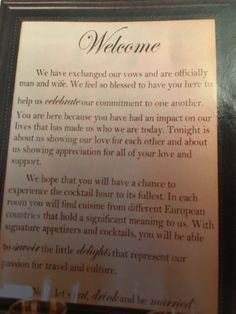 Welcome our guests sign