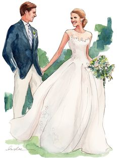 Bride & Groom from The Sketch Book | Inslee By Design