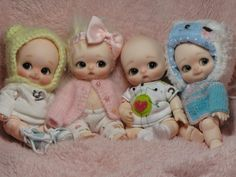 The Bebe Choos | From Left to Right: Nappy Choo, Button, Po,… | Flickr
