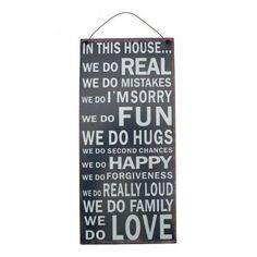 Vintage IN THIS HOUSE WE DO Home Rules Retro Quote Metal Wall Plaque Sign | Home, Furniture & DIY, Home Decor, Plaques & Signs | eBay!