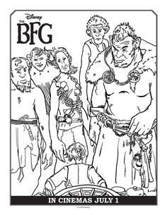 BFG Coloring Pages - Best Coloring Pages For Kids Tree Coloring Page, Cool Coloring Pages, Disney Coloring Pages, Printable Coloring Pages, Coloring Sheets, Coloring Worksheets, Free Coloring, Adult Crafts, Diy Crafts For Kids