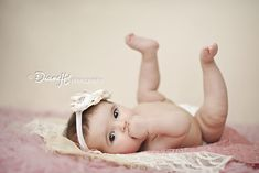 4 month old baby girl photography