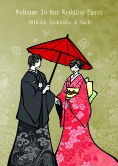 ウェルカムボード 似顔絵 http://wedding.mypic.jp/data/300