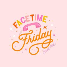 It's Friday ✨ and it doesn't have to be a bore 😒 FaceTime Friday! 🤳🏼Virtual hangouts are a thing now. Tag your friends and schedule a FaceTime Friday! I tag my sisters Valerie and Emilie 🥰💕 . . Oh and does anyone know any fun apps for Virtual hangouts? 🤔 Hand Lettering Quotes, Typography Letters, Typography Design, Lightroom, Photoshop, Web Design, Logo Design, Happy Words, Typography Inspiration