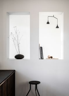 Photo 7 of 11 in A Look at Jonas Bjerre-Poulsen's Luxuriously Minimalist Kitchen - Dwell Wood Counter, Minimalist Kitchen, Wood Cabinets, Ikea Hack, Inspired Homes, Scandinavian Design, Kitchen Design, New Homes, House Styles