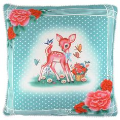 Decorate with these pony and deer pillows for some retro vintage style in your kids rooms.