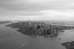 Manhattan from a Chopper [OC] [1600x1067]