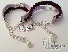 Simple Layered Big Sis / Lil Sis Infinity Bracelet (Sigma Kappa)