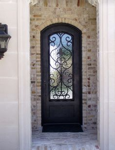 exterior doors with glass | Iron Doors - Exterior - eclectic ...