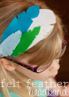 Felt Feather Headband (she: Anne)