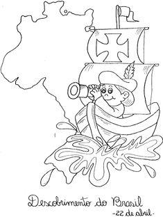 Descobrimento Do Brasil 80 Atividades ExercÍcios Desenhos Para Printable Stencil Patterns, My Books, Stencils, English, Everyday Activities, Index Cards, Projects, Culture, Outfits