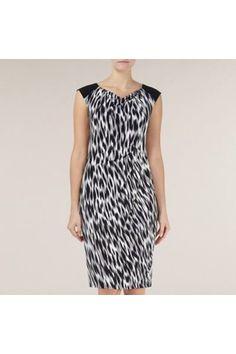 Hazy Animal Print Dress by Planet :: Clozette Shoppe  http://shoppe.clozette.co/product/debenhams-3095251373/hazy-animal-print-dress