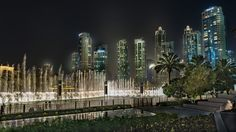 https://flic.kr/p/HYKStL | The Dancing Fountain... | Burj Lake is home to the Dubai Fountain, the world's largest and tallest dancing fountain, at 900ft long with water jets that shoot up to 500ft in the air, as high as a 45-storey building, using 6,600 lights, 25 coloured projectors and 22,000 gallons of airborne water with stunning choreography of light and water synced with classical, Arabic and world music and melodies.