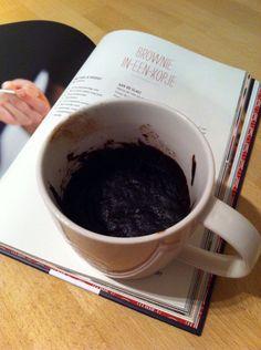 Brownie-in-een-kopje (uit Baked Louie's. Alles wat in de oven past)