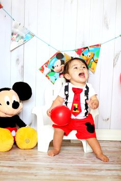 so darn cute!   Mickey Mouse Birthday Tie and Suspender Onesie by shopantsypants, $36.00