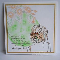 Beautiful inside and out, flowers and sentiment stamps from Stamps By Me Watercolor Ideas, Watercolor Cards, Watercolour, Lady Hair, Distress Oxides, Hair Flowers, Wishes For You, Beautiful Inside And Out, Jay