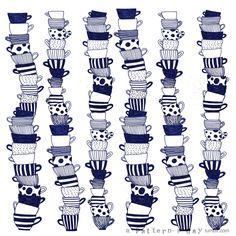 cups : a voir sur le tableau pinterest:  a pattern a day beaucoup de petits dessins pour s'inspirer