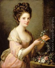 Portrait of Eleanor Countess of Lauderdale Angelica Kauffmann | Oil Painting Reproduction | 1st-Art-Gallery.com