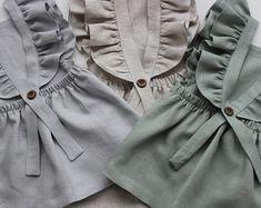 Dove Linen Frilled Dress