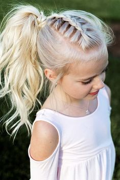 Cute u. Simple summer ponytail hairstyles for little girls - hairstyles - Cute u. Simple summer ponytail hairstyles for little girls - Girls School Hairstyles, Flower Girl Hairstyles, Ponytail Hairstyles, Straight Hairstyles, Hairstyle Ideas, Cute Little Girl Hairstyles, Teenage Hairstyles, Braid Ponytail, Cute Girl Hair