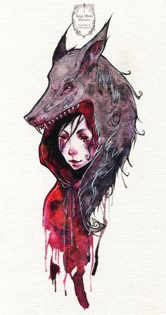 Little Red - Tattoo by Miss-Belfry.deviantart.com on @deviantART