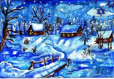Xmas Cards Handmade, Abstract, Artwork, Painting, Handmade Christmas Greeting Cards, Work Of Art, Painting Art, Paintings, Paint