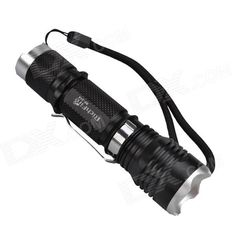 RichFire RF-314 LED 750lm 5-Mode Cool White Zooming Flashlight - Black + Silver (1 x 18650). Modes: 1. Highlight, 2. Middle light, 3. Low light, 4. Fast strobe, 5. SOS; Five modes a circle; Aluminum alloy shell, dropping withstand. Tags: #Lights #Lighting #Flashlights #LED #Flashlights #18650 #Flashlights