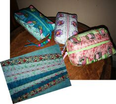 Crazy Quilted Box Purses ITH Machine Embroidery Projects, Zipper Pouch, Purses, Box, Handbags, Snare Drum, Bags, Purse, Coin Purses
