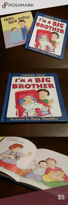 I'm A Big Brother Book I'm a Big Brother Book in EUC free Hello New Baby Board Book included in purchase this book has been very well loved In used condition. (Consider bundling to get more value out of the cost of Shipping and feel free to make offers) Thank you for visiting my closet!!  SMOKE FREE PET FREE CLEAN HOME Accessories