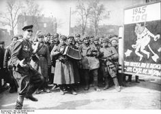 Red Army soldiers celebrating the victory in Berlin, Germany, May 1945